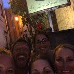 Selfie outside the restaurant