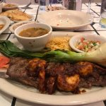 Fajita steak and shrimp plate