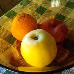 Fruta fresca. También había zumos