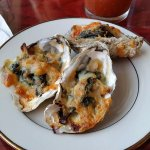 We split the Oyster Rockefeller, there were six.
