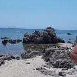 Una delle spiaggette o meglio calette dell'isola