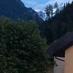 View of the Jungfrau summit from our balcony.