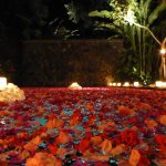 This is the romantic meal option where they add flowers and candles to the pool and villa. Do it