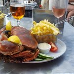 the amazing crab for Sunday lunch yumm