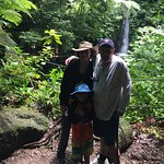 Our family at a waterfall in Rainmaker