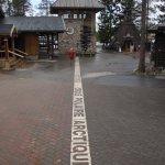 Arctic circle in Santa Claus village