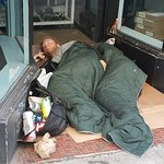 There are homeless everywhere, but they aren't aggressive, or apparently hungry.