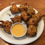 Rock shrimp fritters. A little spicy