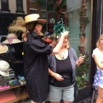 We were lucky to meet Linda Pagan who owns a hat store in Soho