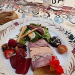 Pressé de caille, pintade, foie gras