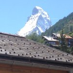 The view from our room - the Matterhorn