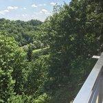 Blick von der Terrasse aus isartal