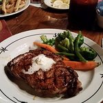 16 ounce Ribeye Steak with Steamed vegetables