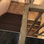 Run down halls and stairwells