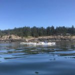 Kayaking by islands