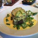 Petite Filet Mignon Oscar (Crab cake, asparagus, béarnaise)
