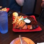 combo of chicken & ribs