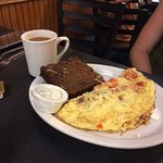 Example omelet with banana nut bread