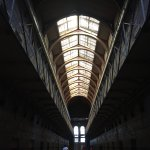 The skylights in the Old Melbourne Gaol