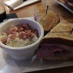 Nitro dark ESB and Club sandwich w/ potato salad