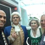 "Selfie with ""George & Martha Washington"" aboard Odyssey III"