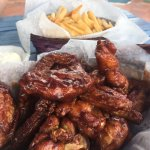 Honey BBQ wings (16 wings & fries meal- 50EC)