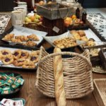 Some of the breads, pastries, and cereal
