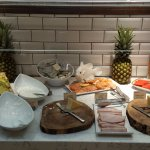 Some of the cheese, meat, fruit, and yogourt options