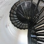 The lighthouse staircase 177 steps