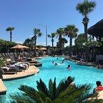 Long Sunken Pool with plenty of sun or shade