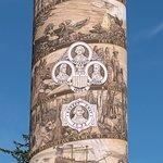 Inscriptions around the column