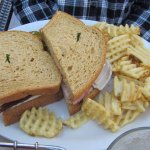 Club Sandwich with Waffle Fries