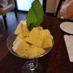 The Saffron and Pistachio ice cream!