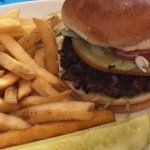 Bison Burger with gouda cheese