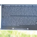 Historical sign for wagon train trail