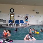 Our group of 26 adults & kids couple all hang out at the pool together comfortably.