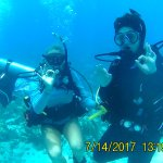 Divemaster Emily and my son