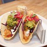 Baja Shrimp Tacos with Mexican-style Street Corn
