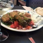 some of the food served with wine