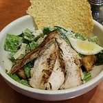 Caesar salad with chicken.
