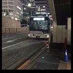 Shuttle Bus - arriving at Shinjuku station bus stop B-17