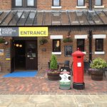 The entrance to the museum, note the lovely Victorian Post Box