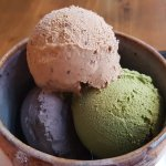 Tea and Black Sesame Flavoured Icecream