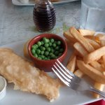 Freshly prepared and cooked 'Fish & Chips'