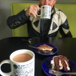 Cup of tea, cappuccino and cake 👍