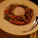 Rice and thai green veg curry - customised main course for a vegetarian
