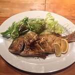 Our favourite meal - the roast snapper!