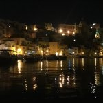 Fishing village at night