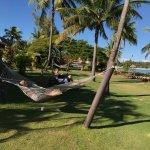 relaxing outside beachfront Bure