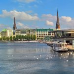 Inner Alster - starting point for boat trips